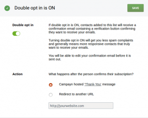 Double Opt in